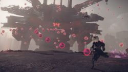 nier automata demo screenshot boss attack