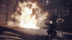 nier automata demo screenshot explosion