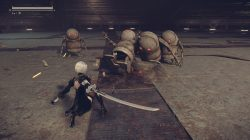 nier automata demo screenshot fight