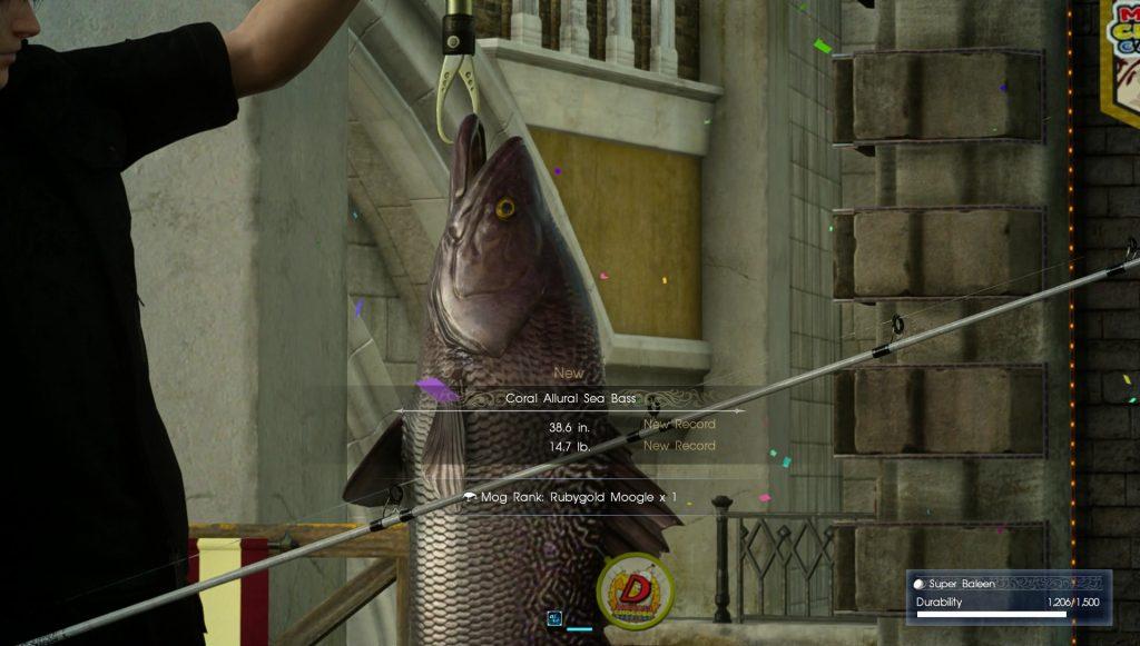 Fishing in Moogle Chocobo Carnival Final Fantasy XV