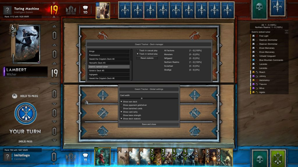 Gwent First Unofficial Public Deck Tracker Released