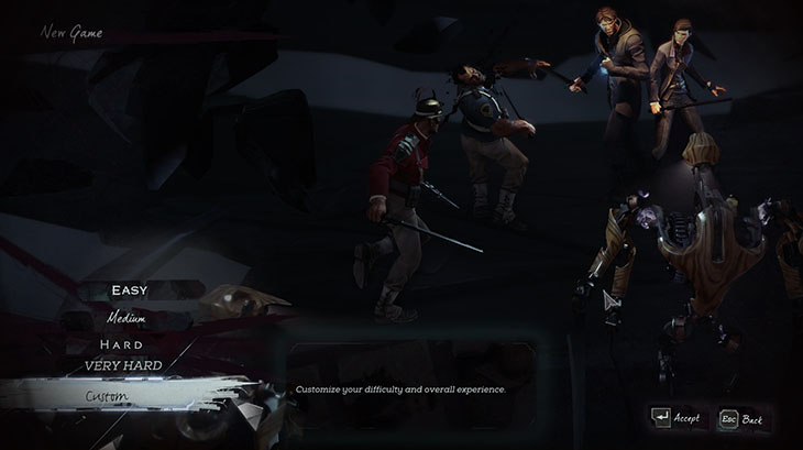 New Custom Difficulty Mission Select Dishonored 2