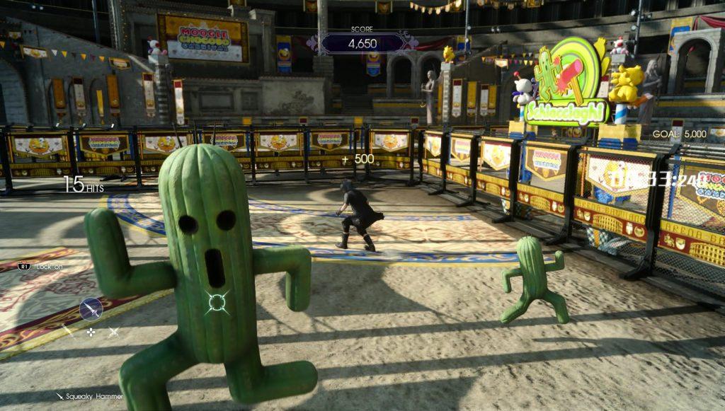 Whack a Cactuar Chocobo Festival Final Fantasy XV