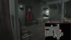 white dog's head location re7