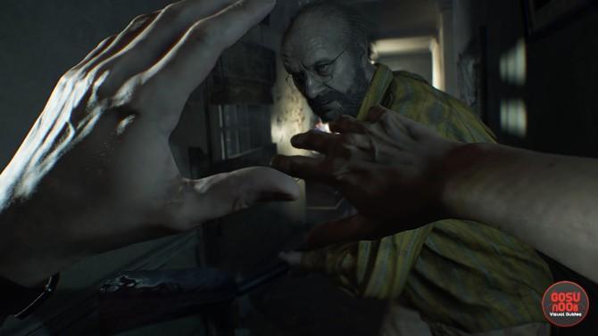 Chris Redfield in Not a Hero DLC Resident Evil 7