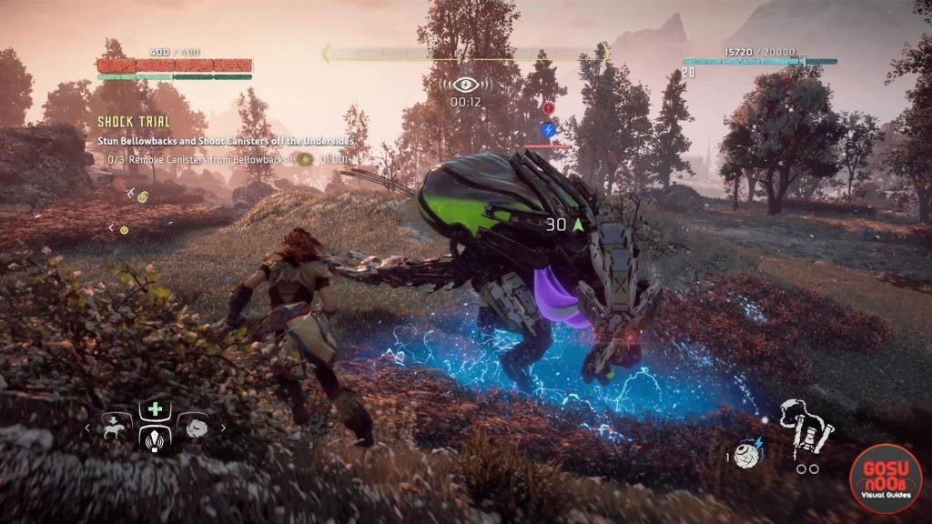 Horizon Zero Dawn How to Complete Valleymeet Shock Hunt Trial