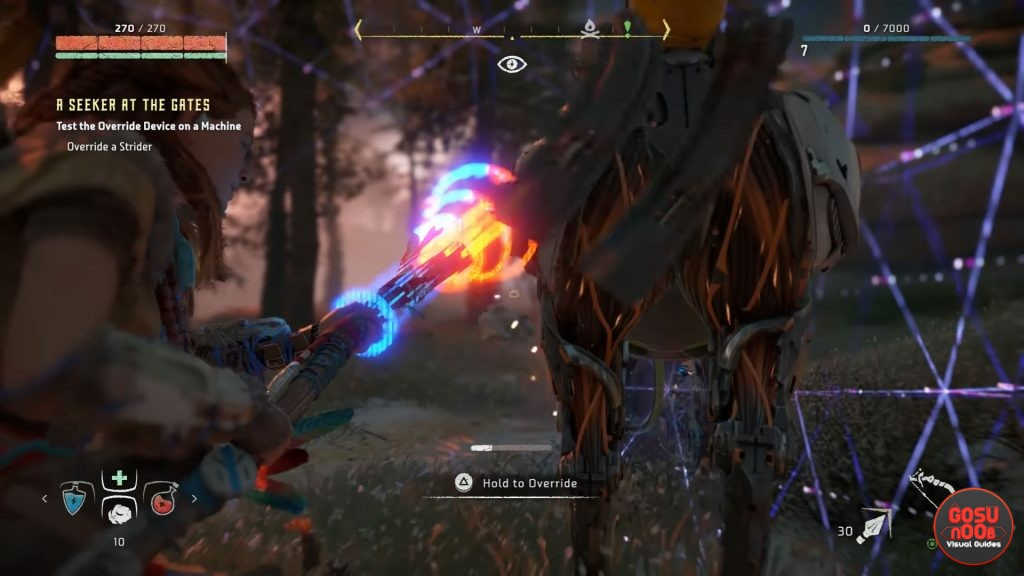 Horizon Zero Dawn Mounts & Overriding Enemies