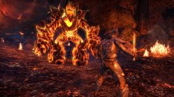 New Screenshots ESO Morrowind Lava Fight Gameplay