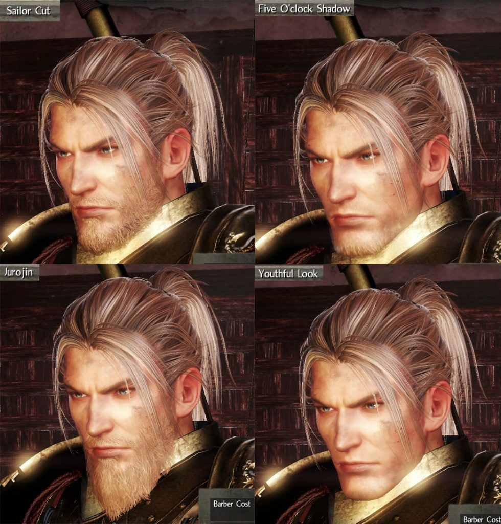 Nioh Beards Customization