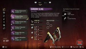 horizon zero dawn shadow sling