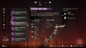 horizon zero dawn shadow war bow