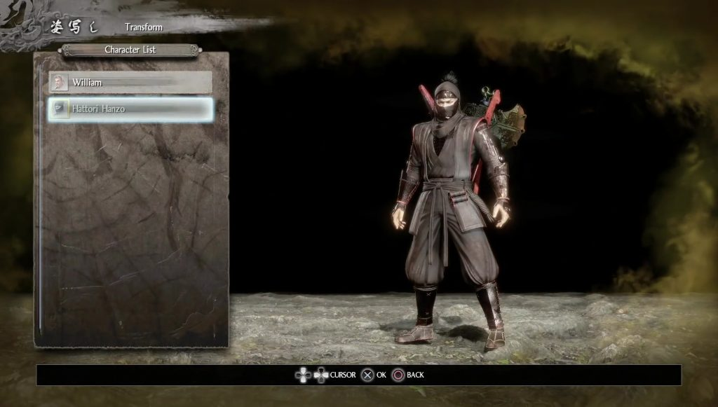 Nioh Transform Skins - How to Change Appearance