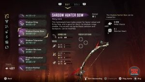 shadow hunter bow horizon zero dawn