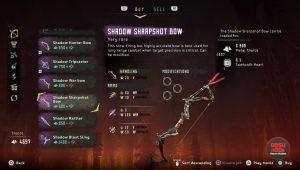 shadow sharpshot bow