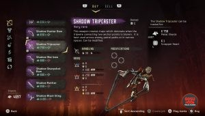 shadow tripcaster weapon