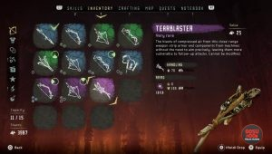 tearblaster weapon horizon zero dawn