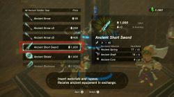 Ancient Short Sword Zelda Breath of the Wild