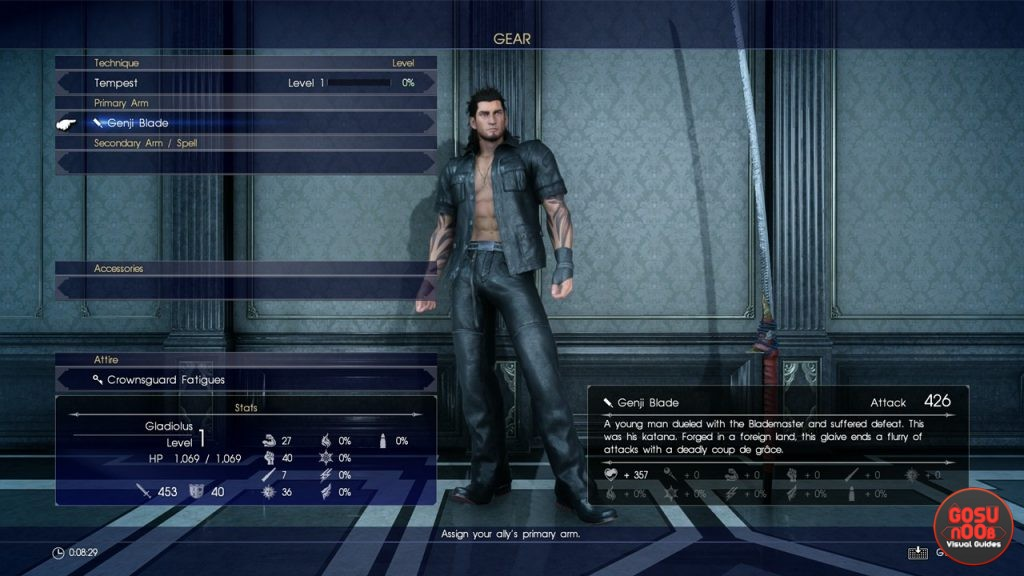 FFXV Gilgamesh and Genji Blade - Episode Gladiolus Boss and Rewards