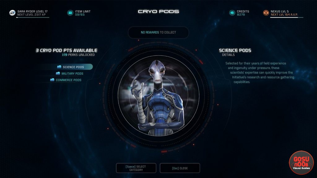 Mass Effect Andromeda How to Unlock & Earn AVP & Cryo Pods