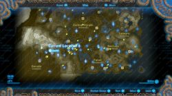 Sign of the Shadow map start zelda botw