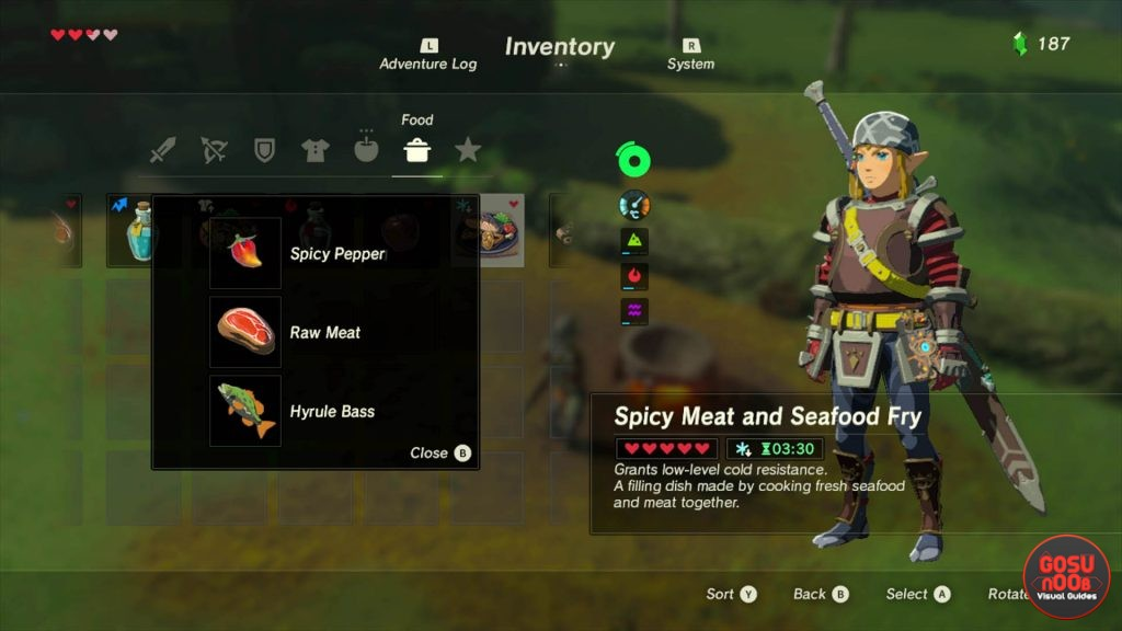 Spicy-Meat-and-seafood-fry-cold-resistance-cooking-recipe-zelda-botw