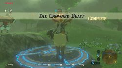 The Crowned Beast Shrine Quest complete Zelda