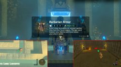 Zelda BOTW All Barbarian Armor Set Locations
