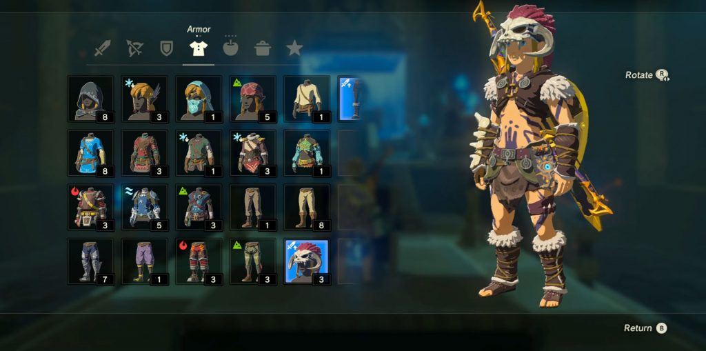 Zelda BOTW Barbarian Set Location