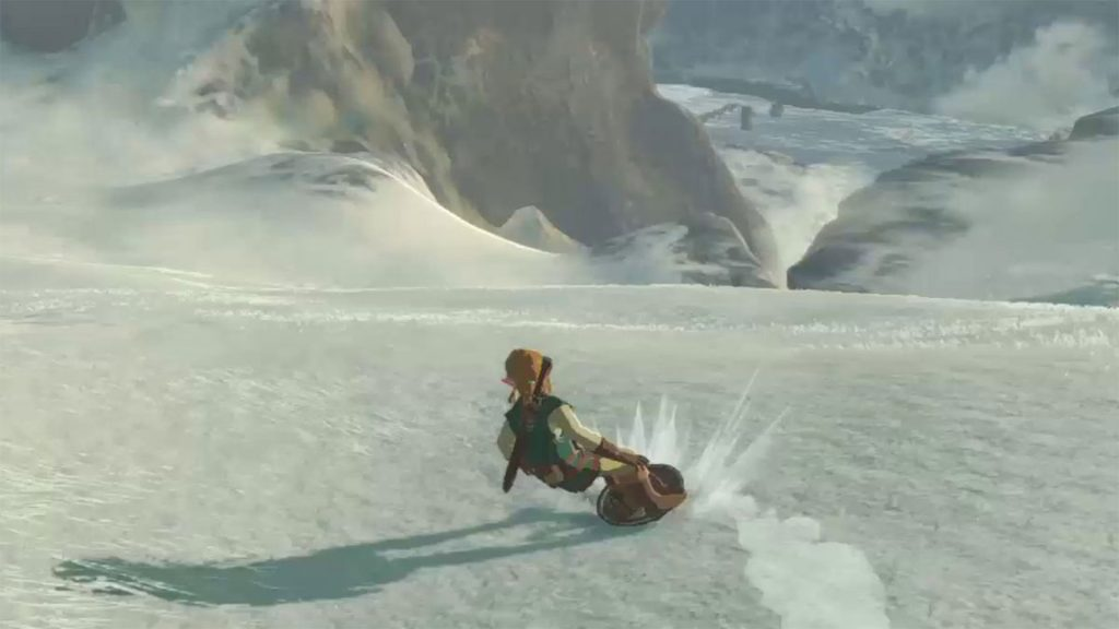 Zelda Breath of the Wild How to Surf on the Shield