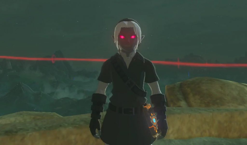 dark link costume zelda breath of the wild