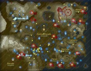 dog treasure locations map zelda botw