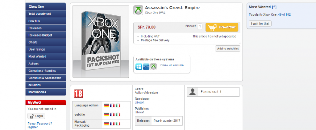 assasins creed empire