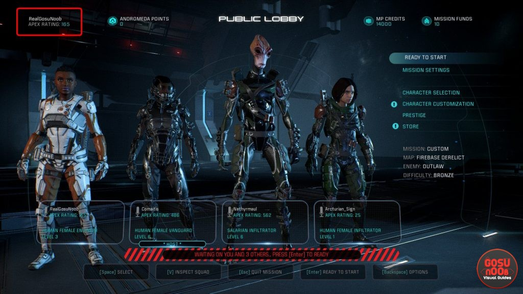 how to earn apex rating points me andromeda