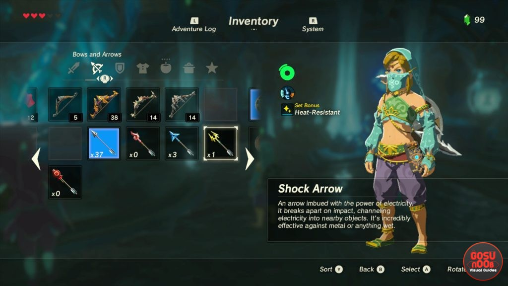 how to get shock arrows divine beast vah ruta quest