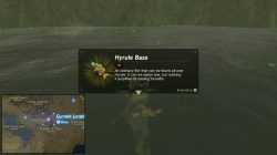 hyrule bass map location zelda botw