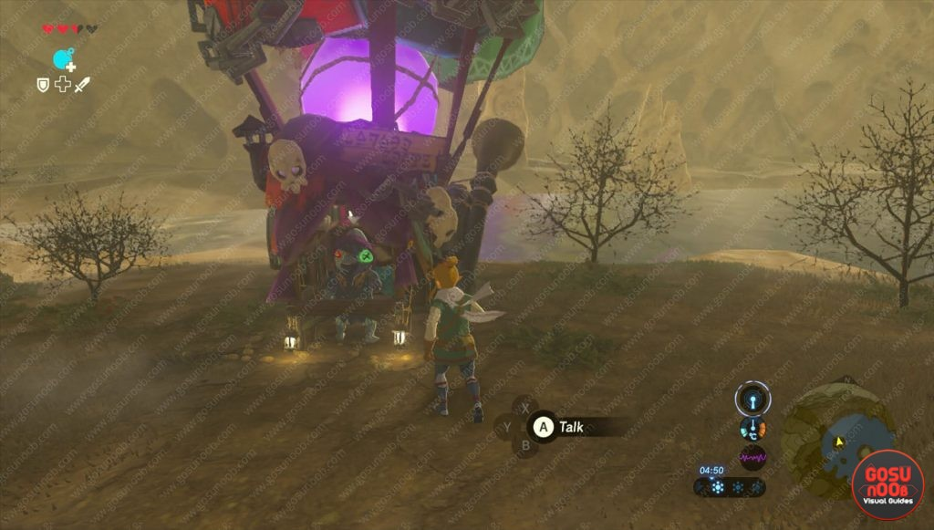 kilton secret vendor location zelda botw