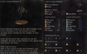 ledo's great hammer dks3 ringed city