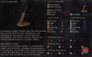 ringed city gael's greatsword