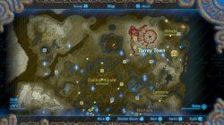 tarrey town location map zelda botw