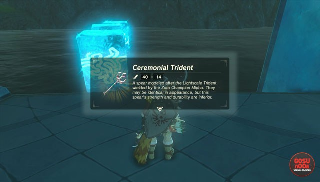 zelda breath of the wild ceremonial trident location