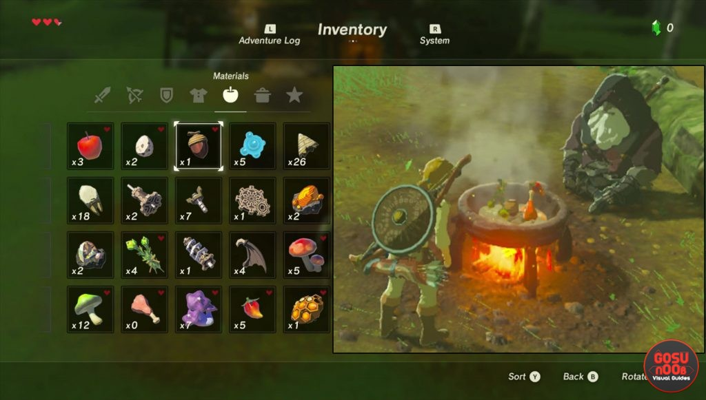 zelda breath of the wild cooking recipe