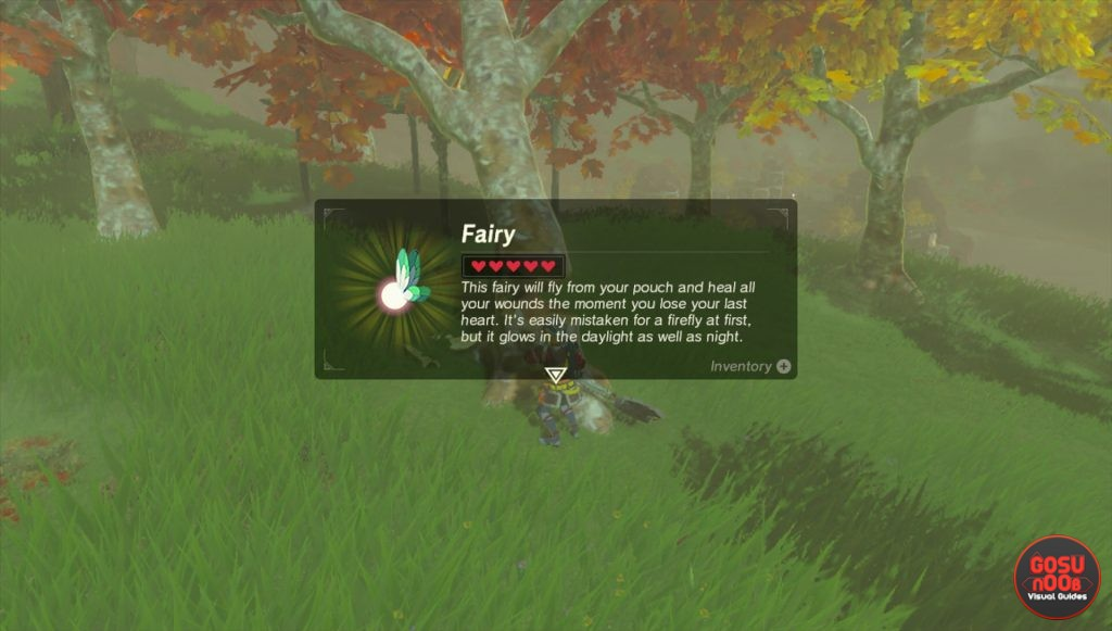 zelda breath of the wild healing fairy