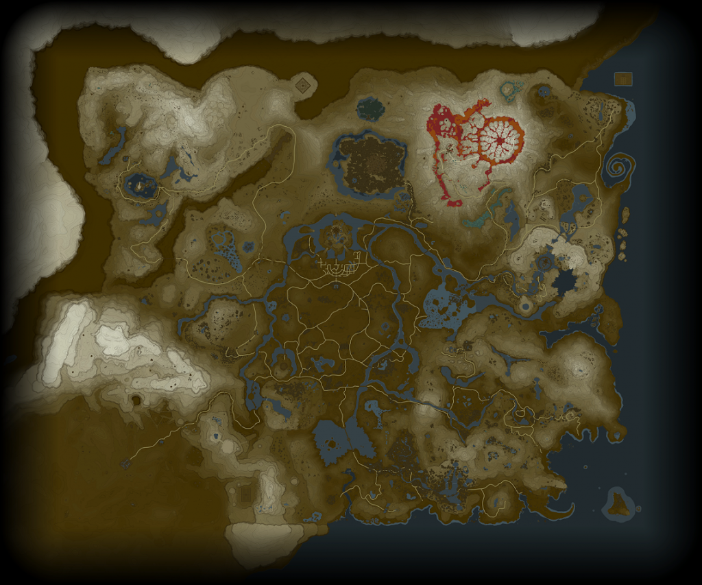 Zelda Breath of the Wild map leak