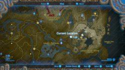 zora Tarrey Town location map Zelda Breath of the Wild