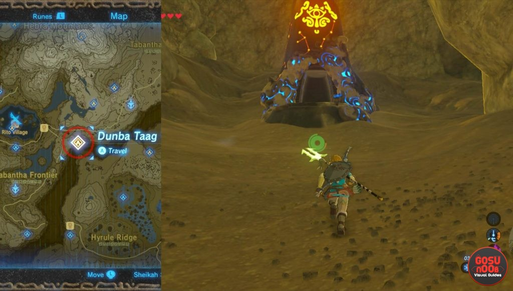 Zelda BotW Dunba Taag Shrine Location
