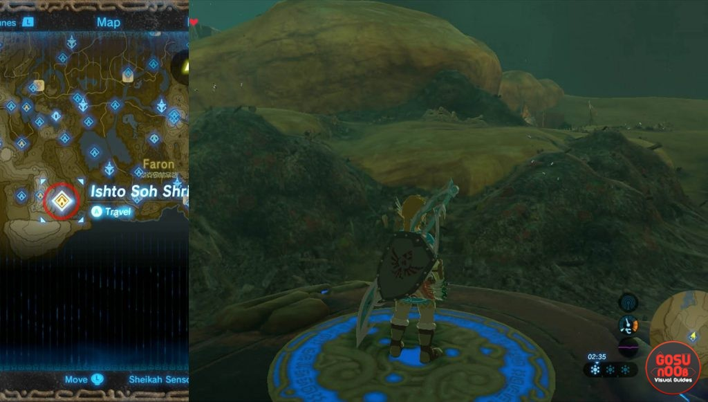 Zelda BotW Ishto Soh Shrine Location