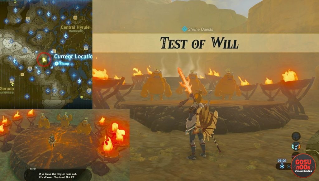 Zelda BotW Joloo Nah Test of Will Quest