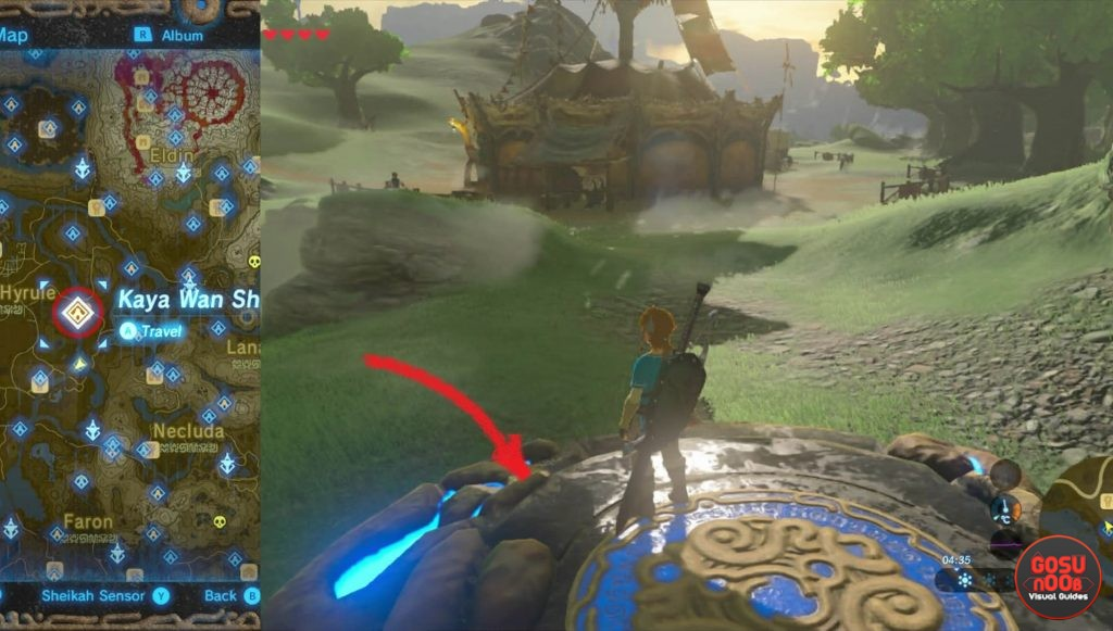 Zelda BotW Kaya Wan Shrine Locaiton