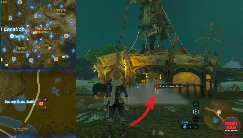 Zelda BotW Misko The Great Bandit Location