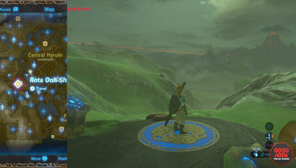 Zelda BotW Rota Ooh Shrine Location